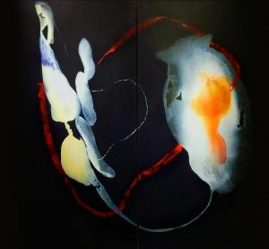 Espacios enfrentados.Acrílico tela. 185x200 cmPrimer premio del Concurso Nacional de pintura Casimiro Sáinz de Reinosa.Díptico. 2008.