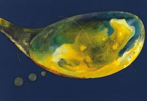 Cuerpo latente, 2017 Acrílico sobre tela, 38 x 55 cm