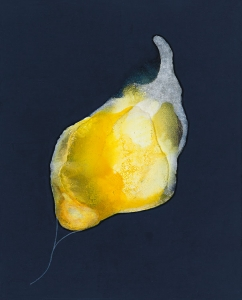 El latir del amarillo, 2018 Acrílico sobre tela, 41 x 33 cm