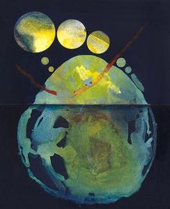 El paso del tiempo, 2017 Acrílico sobre tela, 100 x 81 cm