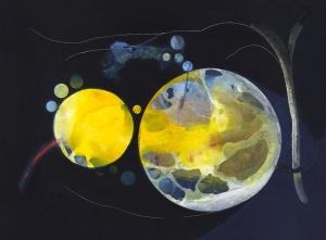 Espacios habitados I, 2017 Acrílico sobre tela, 95 x 130 cm