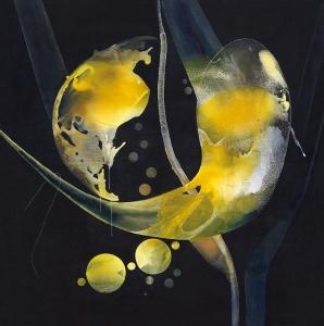 Paisaje de la memoria, 2018 Acrílico sobre tela, 180 x 180 cm